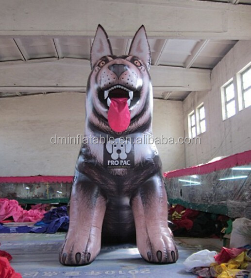giant inflatable wolf dog for outdoors advertising