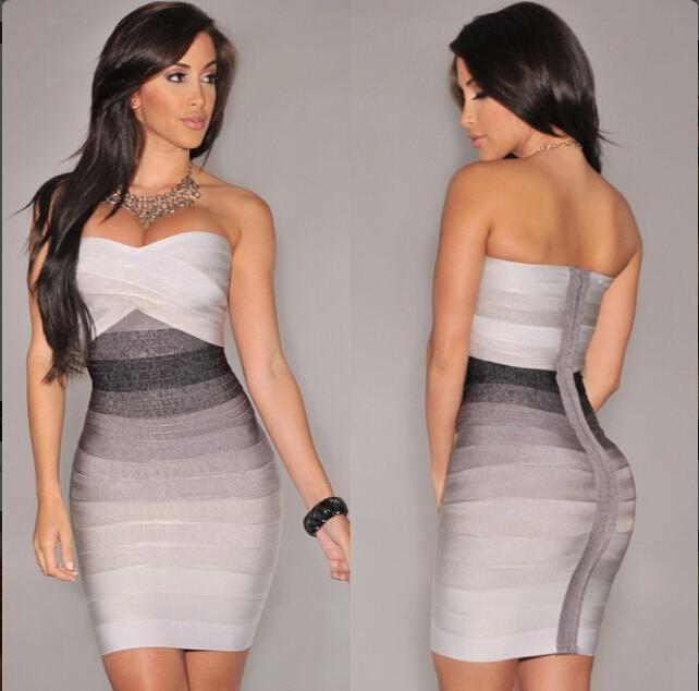 Платье облегающее без бретелек без рукавов открытые плечи, женщины сексуальный бандажное футляр вечернее платья ночь Клубная одежда vestidos