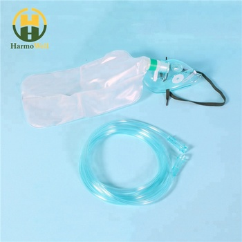 Best quality non rebreathing oxygen mask with reservoir bag hospital disposable face oxygen operation surgery mask