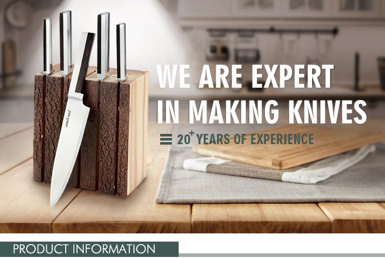 Fashion Design Block 15 Piece Hollow Handle Kitchen Knife
