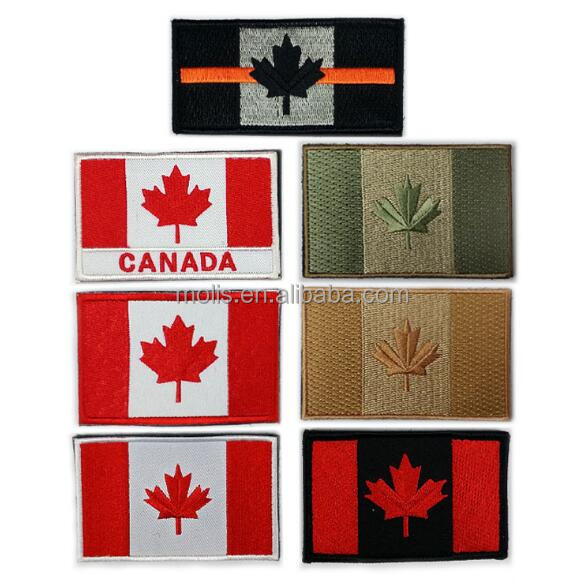 Canadian Maple Leaf National Emblem Canada Flag Embroidered Patch