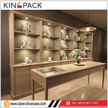 KINGPACK Factory Custom Made Wood Used Jewelry Showcases Display Jewelry  Cabinet For Jewellery Display Set