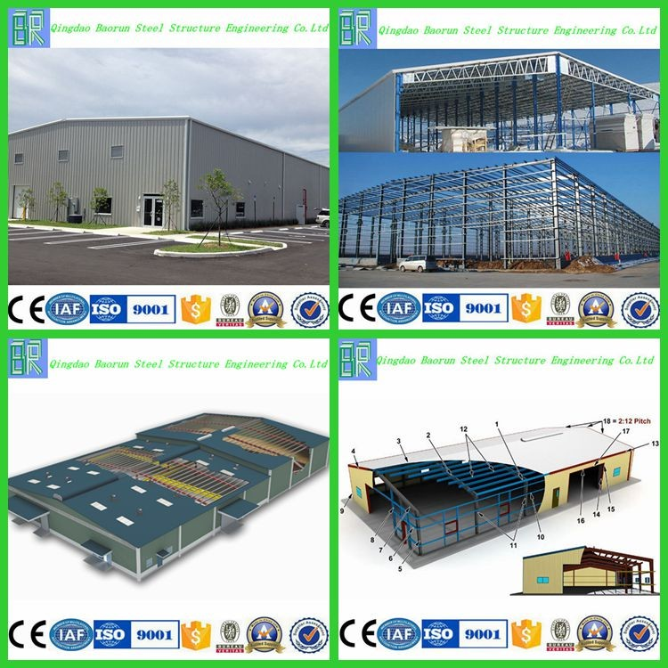 Galvanized steel structure prefabricated warehouse
