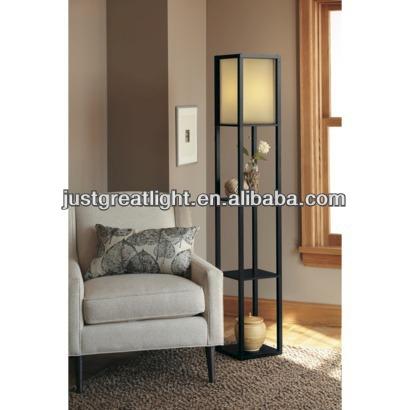 Bois tag re plancher personnalis lampe avec abat jour en tissu pour la d coration int rieure - Decoration interieure man of cloth ...