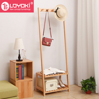 Solid beech Wood Coat Rack Hat Purse Display Stand with shoe bench entry way coat rack