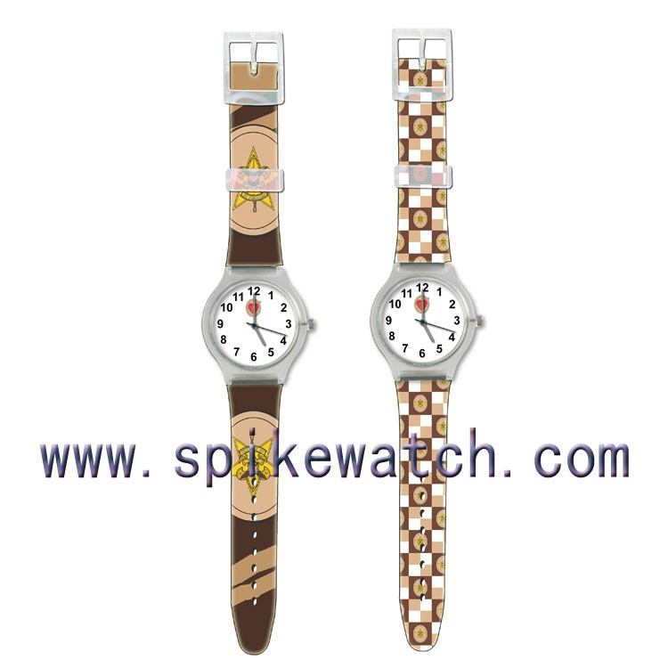 Mixed color lovely promotional cheap gifts ladies plastic fancy watches
