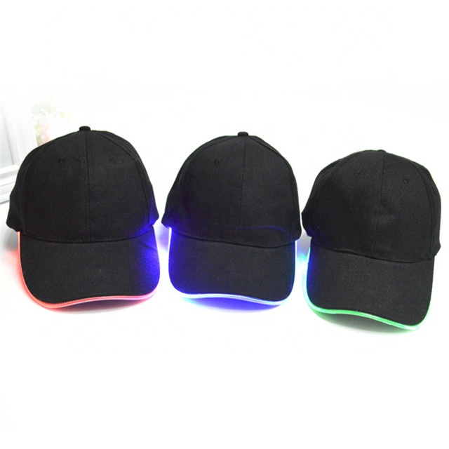 Factory Direct Sale Products Fashion <strong>Custom</strong> LED Flashing Cooling Baseball Cap