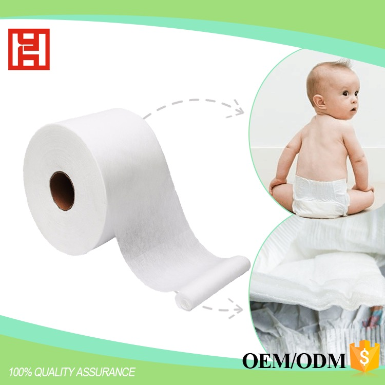 High Quality Baby Diapers Raw Materials Super Soft Nonwoven