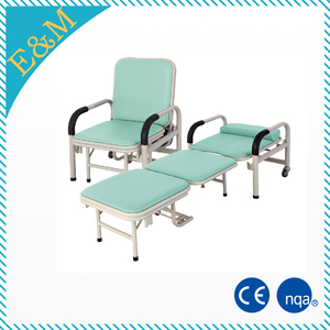 luxury folding recliner medical attendant chair cum bed