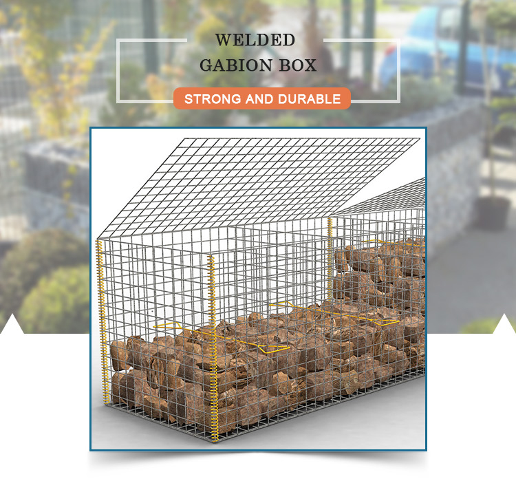 Galvanized wire welded gabion cage South Africa