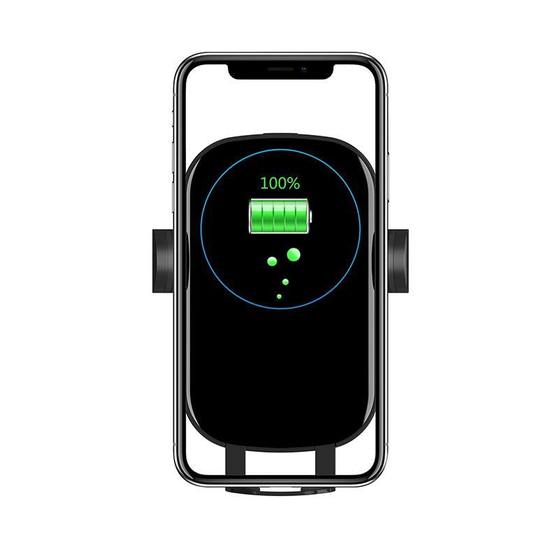Luxury 적외선 Sensor 자동 클램핑 치 Fast Charging 무선 충전기 차 실장 (smd, smt Wireless Mobile Phone Charger