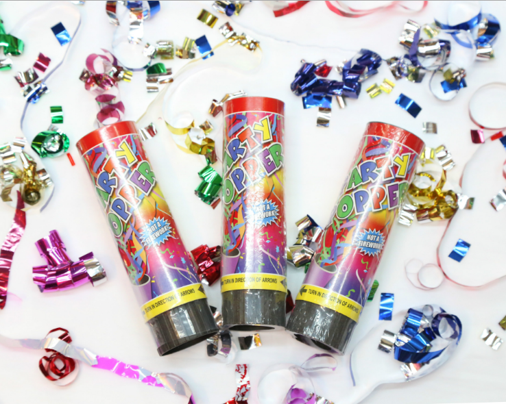 2 Pcs US Confetti Cannon Birthday Wedding Shooter Party Popper Cannons Blaster