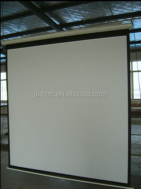 300x300cm Manual pull down projector screen/Large Manual Projection Screen
