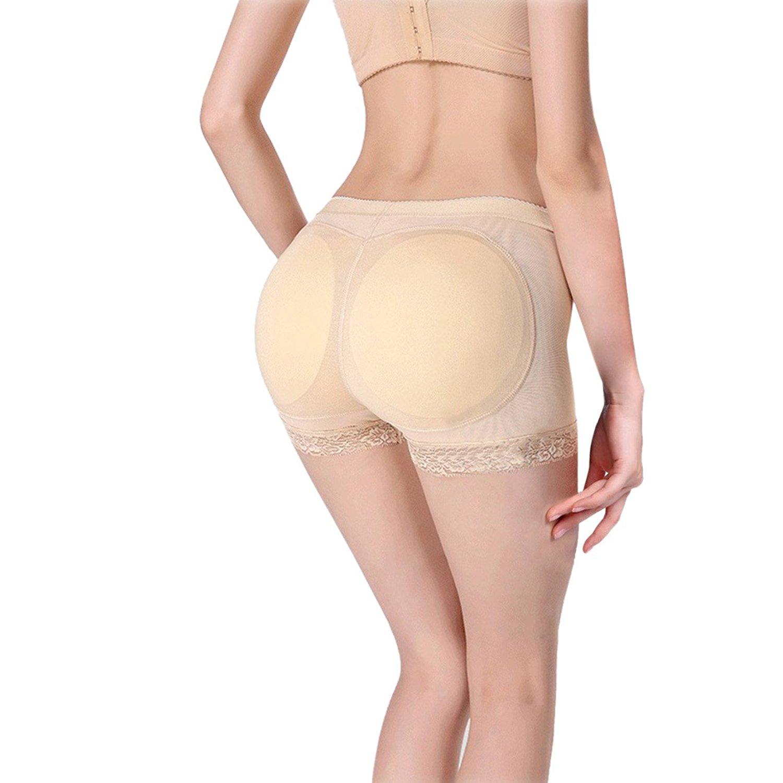 564cb0223 Get Quotations · THEE Womens Body Shaper Butt Lifter Buttock Fake Butt  Briefs Hip Enhancer Underwear