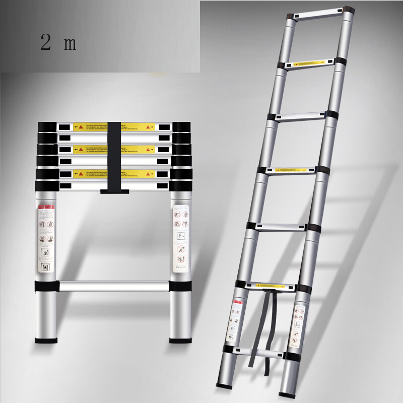Household stainless aluminium multipurpose adjustable ladder