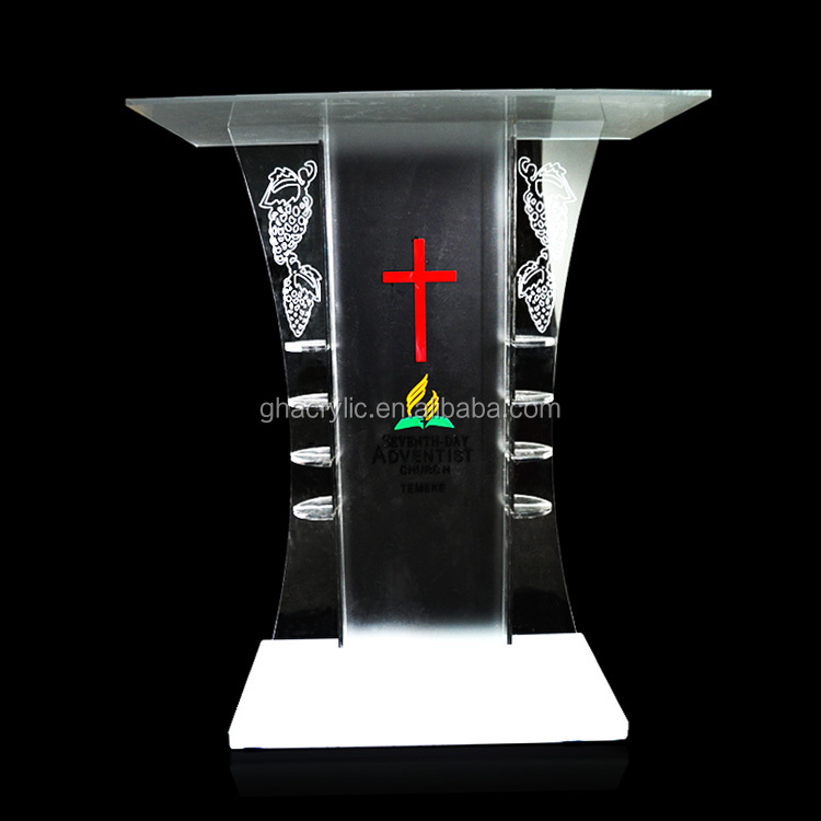 Customized Innovative Design Modern Acrylic Church Pulpit For Sale ...