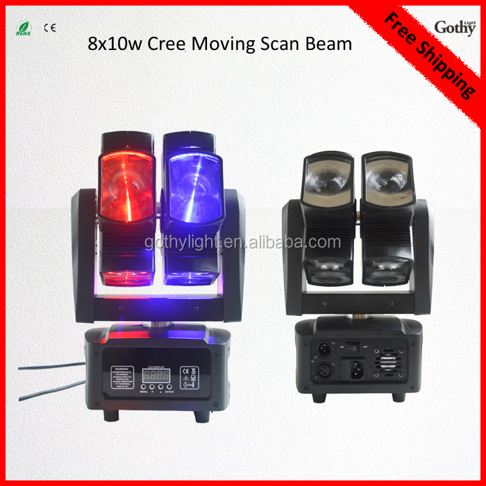8x10W dual layer led beam moving head light for DJ Bar Disco Party Nightclub