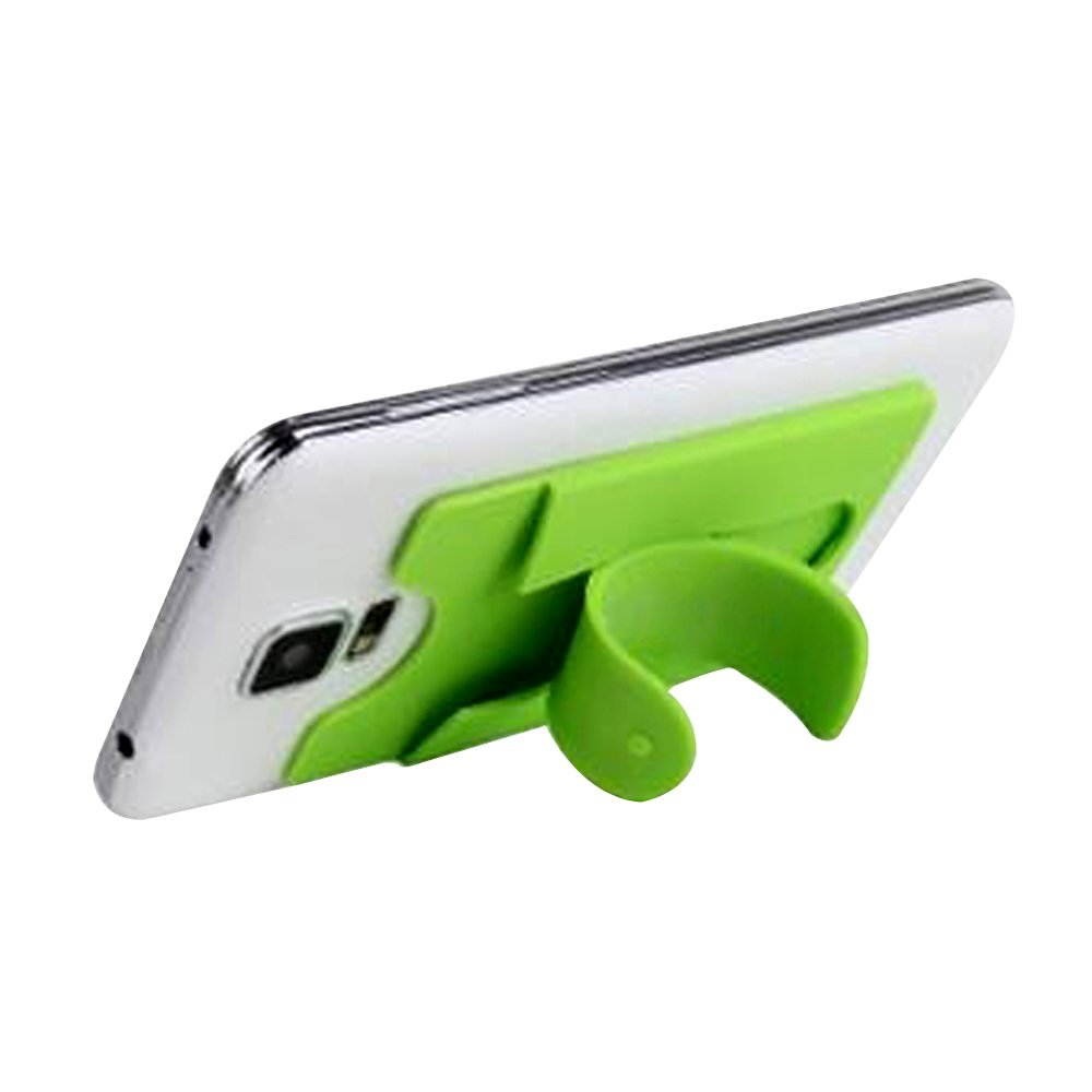 fengus Universal mini Plastic Cell Phone Stand Holder for iPhone 6 6 Plus Samsung S6 Edge S7 S7 Edge HTC Sony Nokia LG and other Mobile Phone Smartphone (Green)