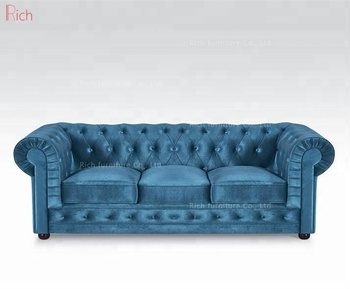 Blau Samt Möbel Schnitt Couch Wohnzimmer Stoff Chesterfield-sofa Canape -  Buy Canape,Couch,Chesterfield-sofa Product on Alibaba.com