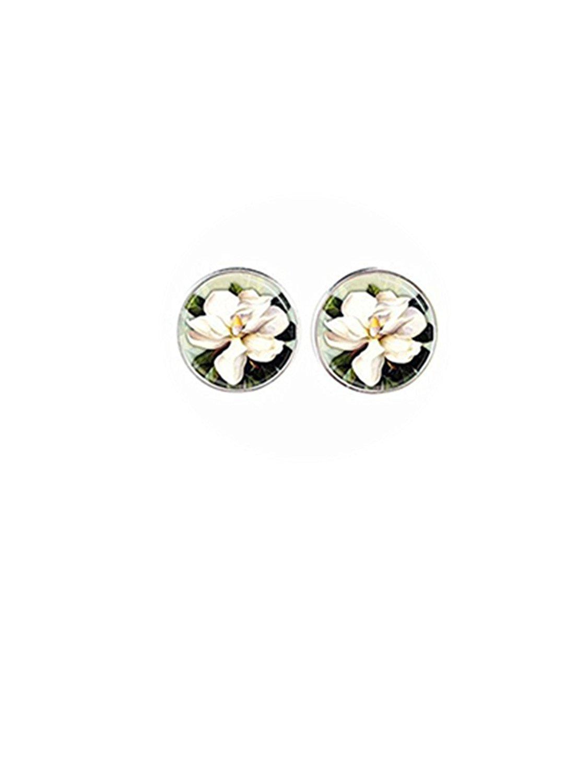 Get Quotations New Arrival Lotus Stud Earrings Yoga Jewelry Om Symbol Buddhist Mandala