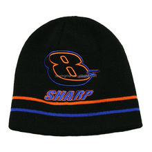 embroidered knit ski beanie hat