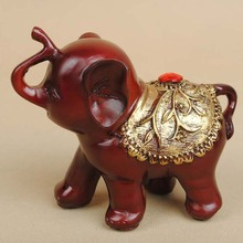 immitating padauk small three pcs elephant family sculpture for home desk decoration resin crafts wholesale 13060