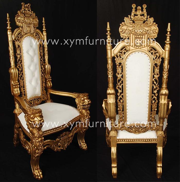 Popular Design Gold Cheap King Throne Chair