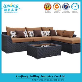 Living room furniture rattan sofa sets corner sofa bed for - Rattan living room furniture for sale ...