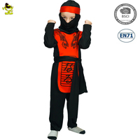 A kids the new popular Red Dragon Ninja costumes for party