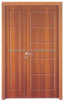 india teak veneer entrance wooden main double door with frame - Door With Frame