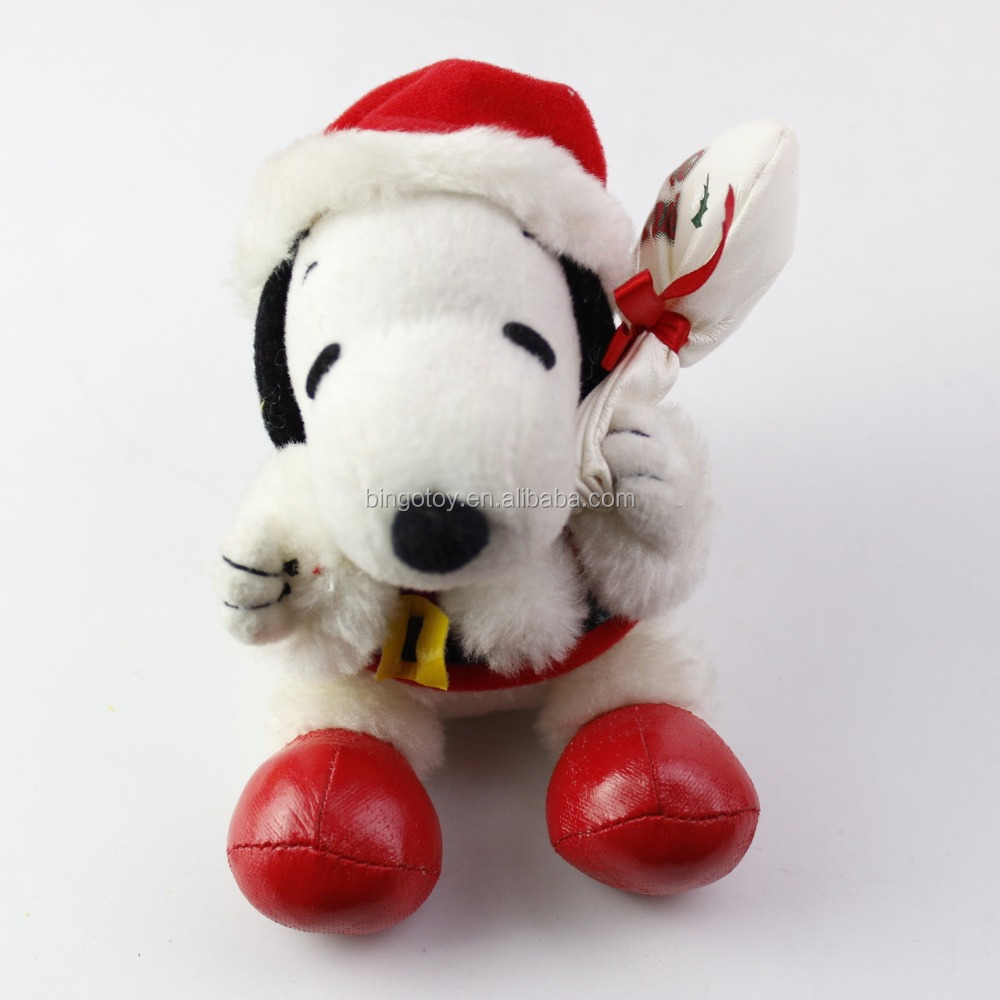 2016 Popular hot selling plush toys plush dog keychain, cute Snoopy dog with hat