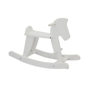 WEIFU cheap safe toy kids baby wooden white rocking horse