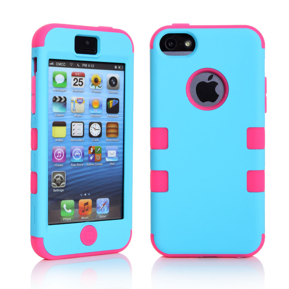 premium selection b8c1a 84502 Silicone Varnish 3 Piece Hard Case For Iphone 5C Gen+Protector+Stylus Free  Shipping