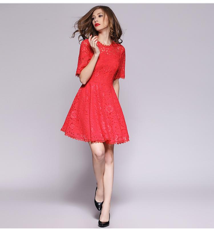 l'atteggiamento migliore 4d21d 8de71 Imperial vestito rosso pizzo – Vestiti da cerimonia