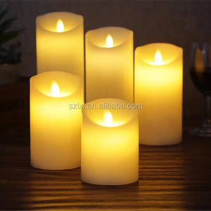 Swing Flame Realistic Flameless wax LED pillar Candle Light / Moving flame LED Candle