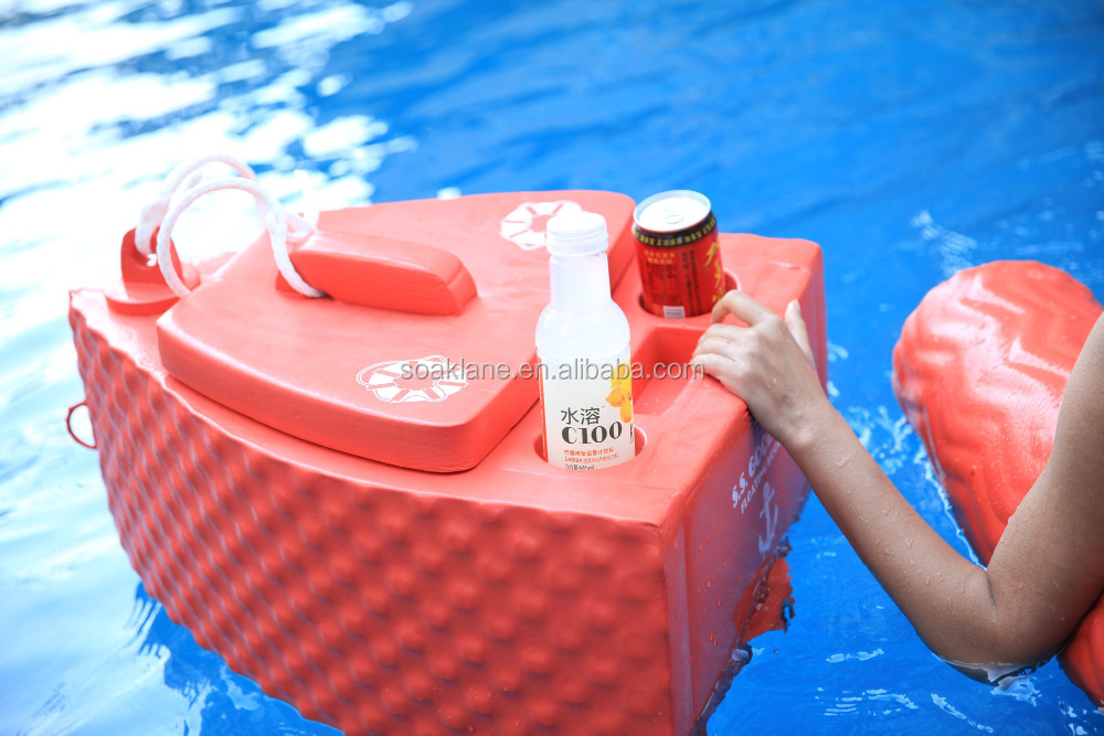 Vinyl Coated Dipping Pool Floating Drink Cooler for swimming recreation / Factory Price OEM avaliable