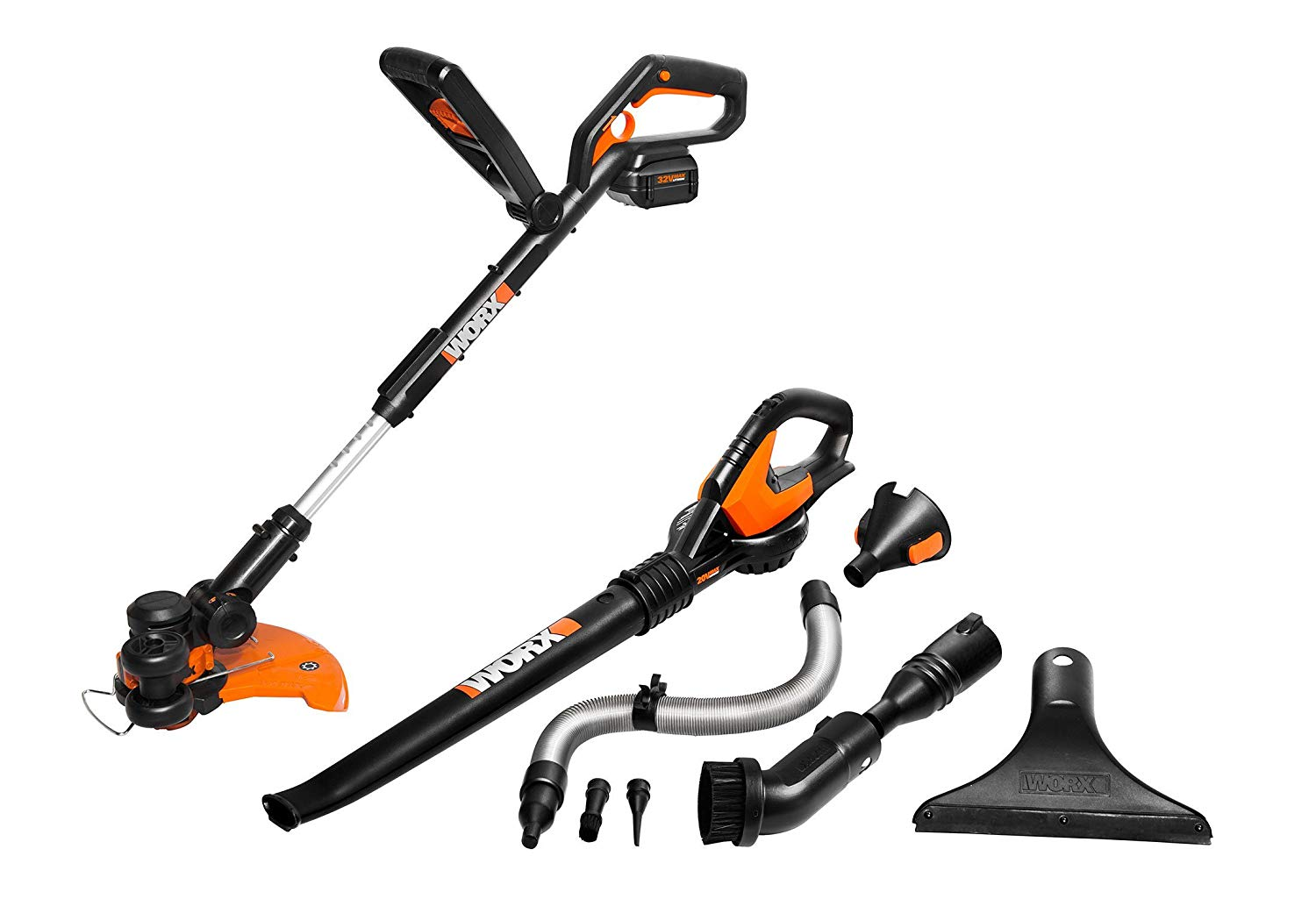 Worx Grass Trimmer Air Blower Cordless Electric Combo Kit