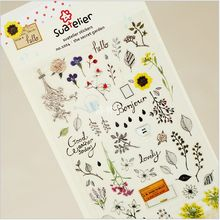 Fresh Style My Secret Garden Adhesive Stickers Scrapbooking DIY Decoration PVC Stickers Mobile Phone Stickers