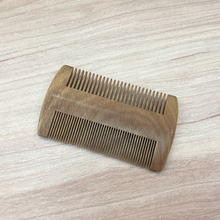 wholesale top grade custom nature green sandalwood beard comb