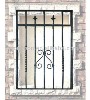 Top selling hand forging simple iron window grills buy for Simple window design