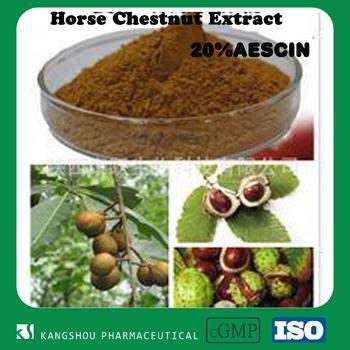 Organic 20% Aescin powder chestnut extract powder horse chestnut seed extract