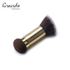 Double ended mascara brush retractable foundation brush double ended flat top hair head short handle blush powder makeup brush