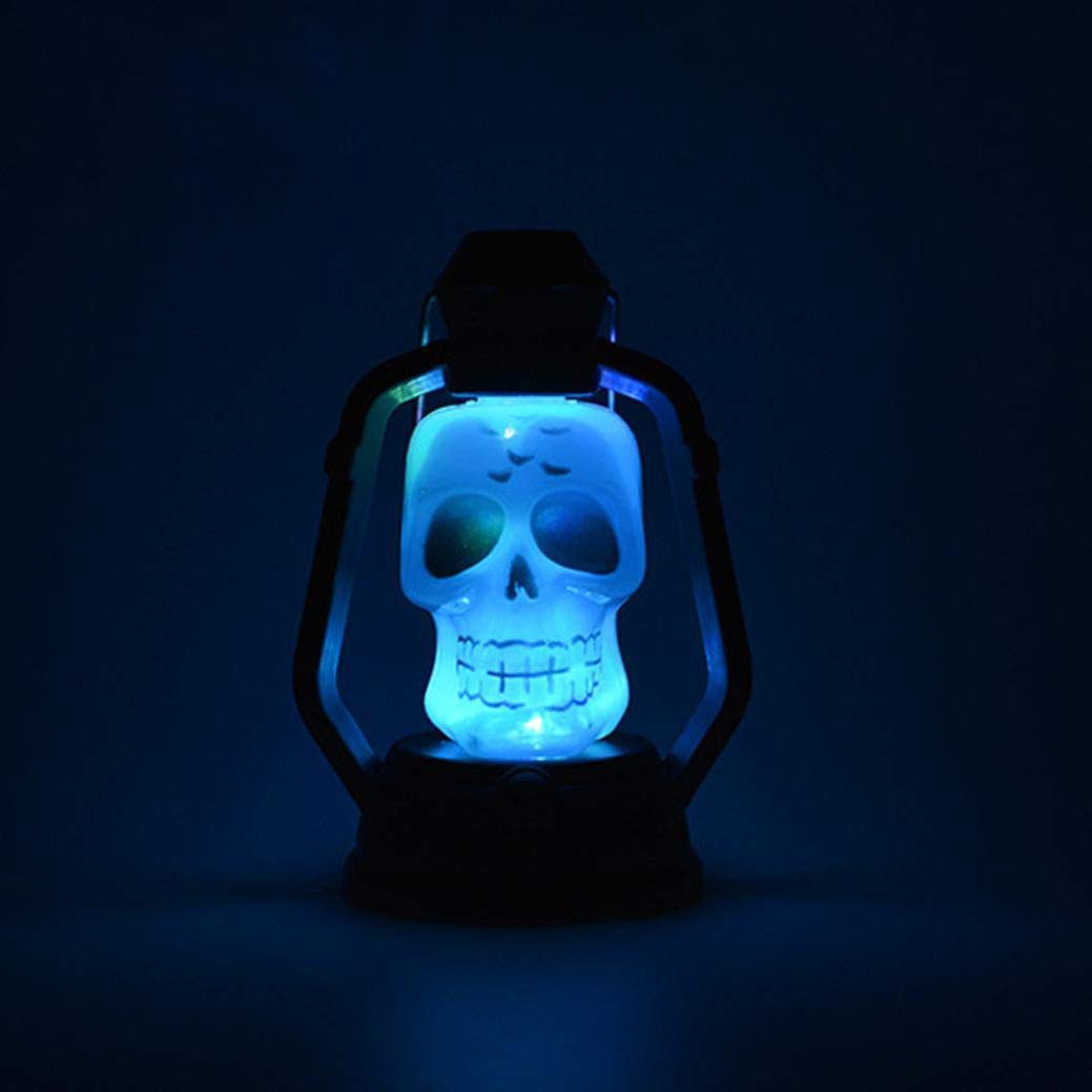 Halloween Night Light, Indoor/Outdoor Party Décor Lights, Skull Lantern LED Horrible Expression for Home Decoration Toy Kids Gift
