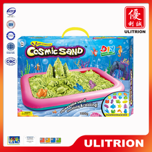 Color play bulk colored sand sale, diy magic cosmic sand toys for children