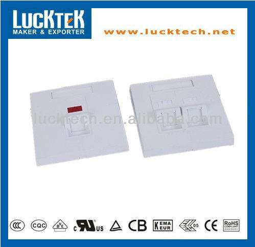 2 port network angle RJ45 face plate