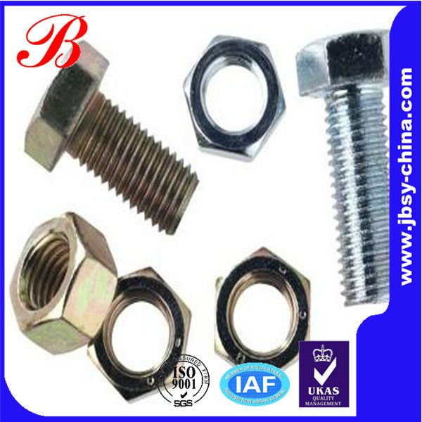 Different types nuts bolts fastener nut bolt from shenzhen jingbang