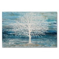 Chinese Handmade Creative Tree Abstract Oil Painting on Canvas