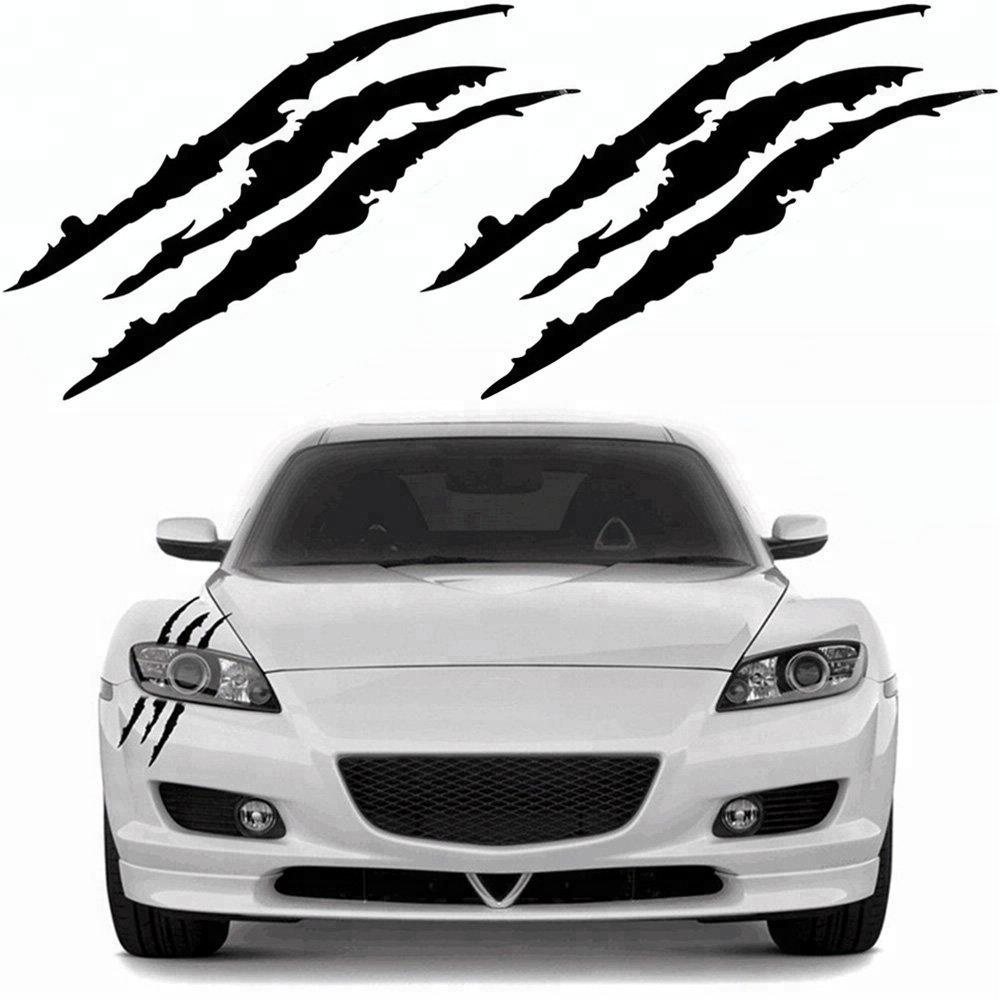 Claw Marks Decal Reflective Sticker for Car Headlamp