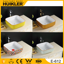 E-612 online shopping india 2017 new design bathroom ceramic wash basin cabinet basin