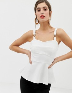 Newly Lady Blouse & Top Sexy Sleeveless Cami Top Blouse with Peplum Hem HSB300515